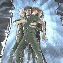 """www.omegachildren.co.nz The four main characters in Shane A. Mason's """"The Omega Children - the Return of the Marauders."""" http://www.omegachildren.co.nz/index.html"""