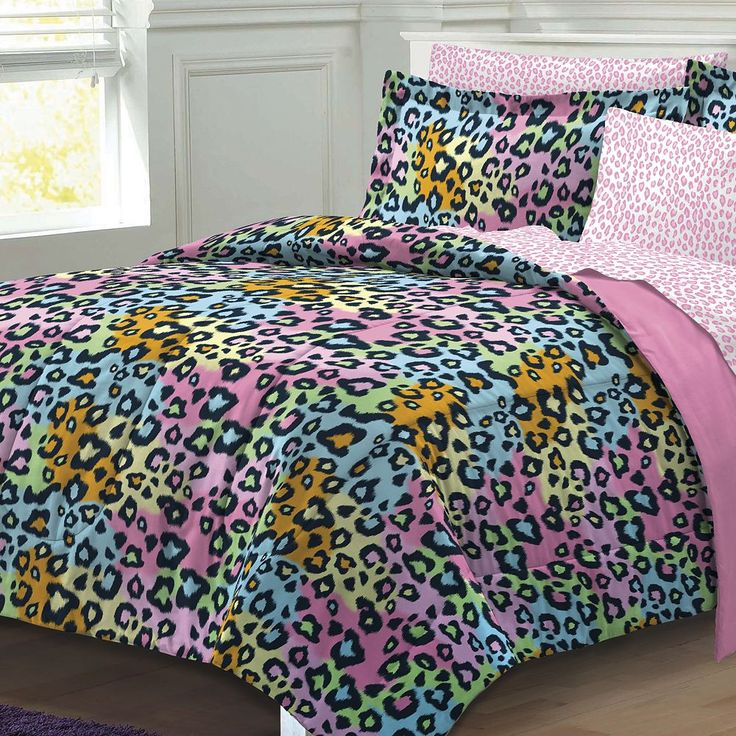 My Room Neon Leopard Bed Set, Pink