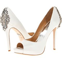 Badgley Mischka-Simple wedding shoe