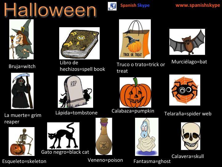 vocabulario Halloween en español