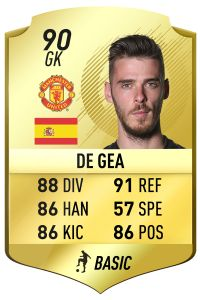 David De Gea - FIFA 18 Manchester United Rating Predictions
