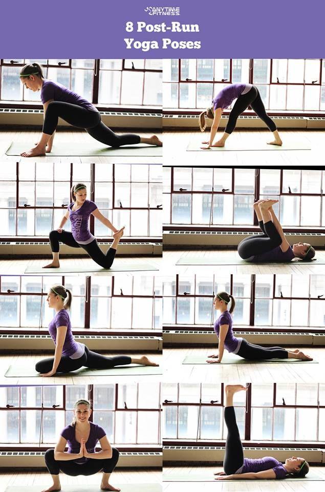 8 Post-Run Yoga Poses via @Yoga Inspiration