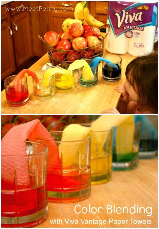 paper science experiments Materials bowl of water paper towels, cut into strips 3 or more different markers,  including black (non-primary colors work best) the method draw a wavy line.