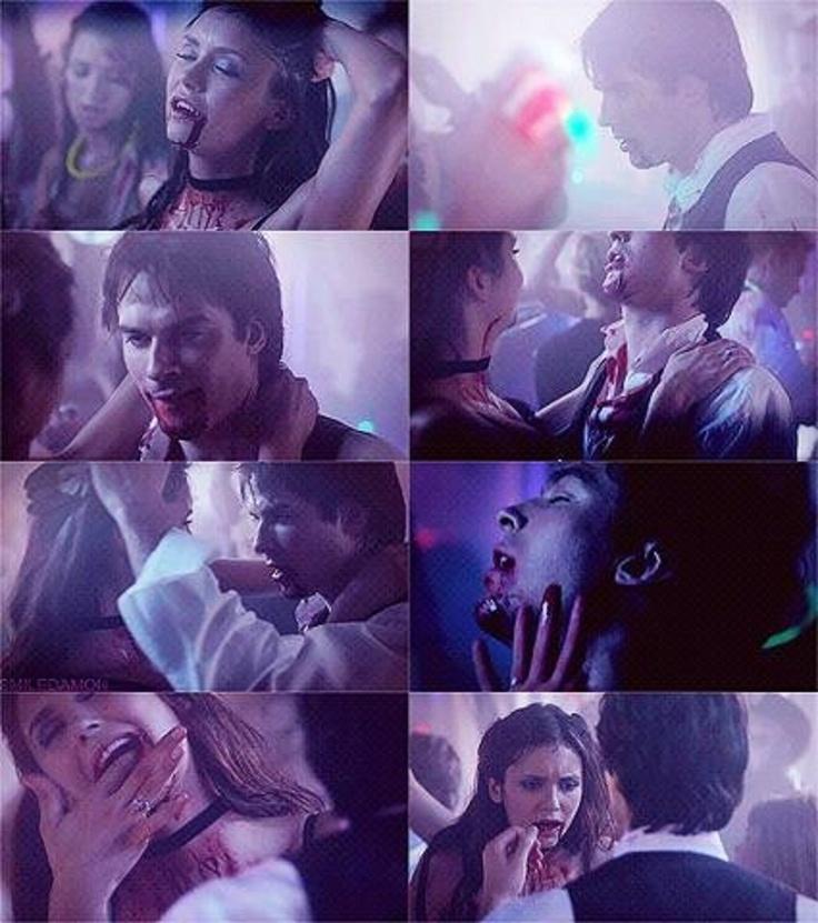 LOVED this scene. Damon & Elena dirty dancing. Delena. Season 4. The Vampire Diaries ♥