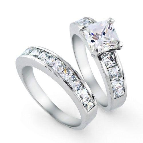 925 Sterling Silver Princess Cut