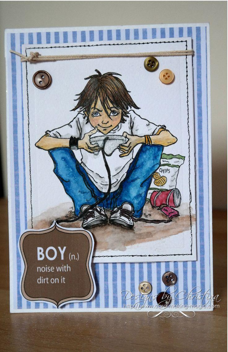 "masculine ""boy"" definition gamer card by Christina"