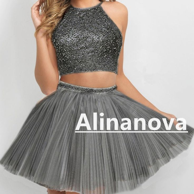 Chic Beaded Dresses With Pleated Tulle Skirts make it perfect as your prom dresses,homecoming dress,birthday party dress in year 2017!