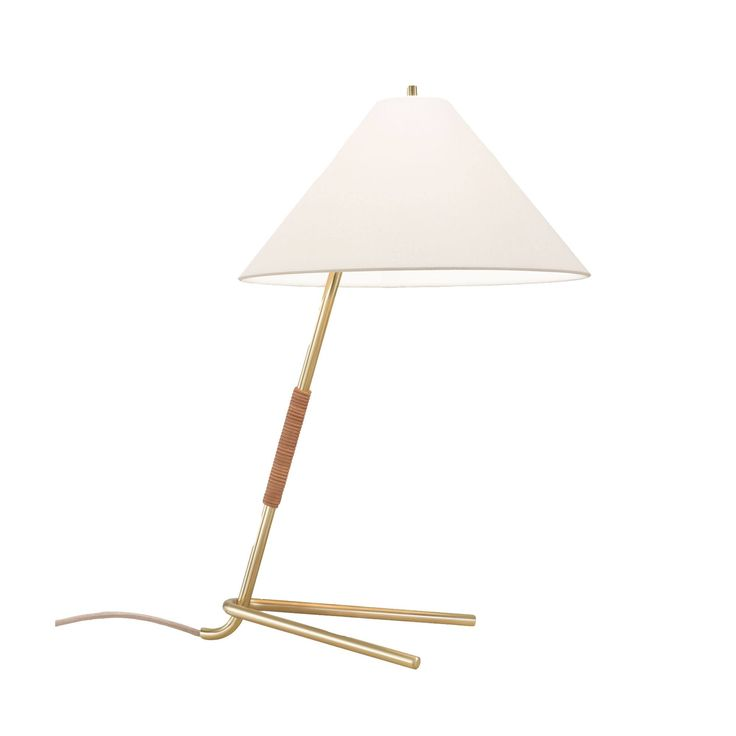 The freestanding luminaire Hase is another exemplar of the Wiener Werkbund. Using simple metal tubing and the basic bending process, J.T. Kalmar designed a luminaire with a kinetic yet delicate posture. Hase is finished in a polished brass that is uninter