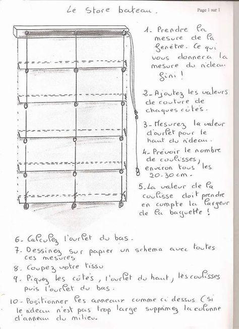 comment fabriquer un store romain   Le store bateau - Les ptites mains de Keryado