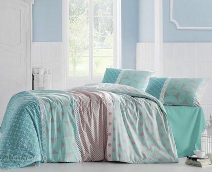 Купить постельное белье ALTINBASAK ALEDA бирюзовое 50х70 1,5-сп от производителя Altinbasak (Турция)