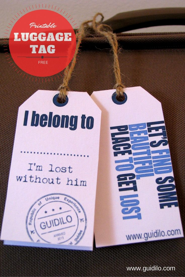 Bon Voyage! with these free luggage tag printables made for you by Prague locals of Guidilo.com