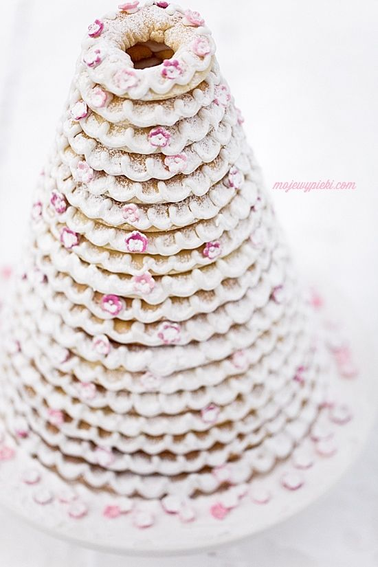 Kransekake - Norwegian Christmas Cake:  Can't find recipe in English -  its sooo good