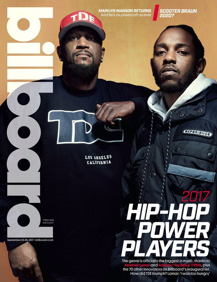 """Kendrick Lamar and TDE founder and president Anthony """"Top Dawg"""" Tiffith cover Billboard's new Hip-Hop Power Players issue. For the cover story, they sat down with Datwon Thomas to talk about the father/son dynamic of their relationship, Top's transition from the streets to the industry, """"Duckworth"""", the formative years of the TDE label and how Kendrick came into the fold."""