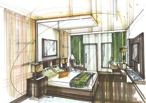 The Hilton Double Tree Hotel Poland Image 9 House DrawingPen SketchInterior DesignArchitectural