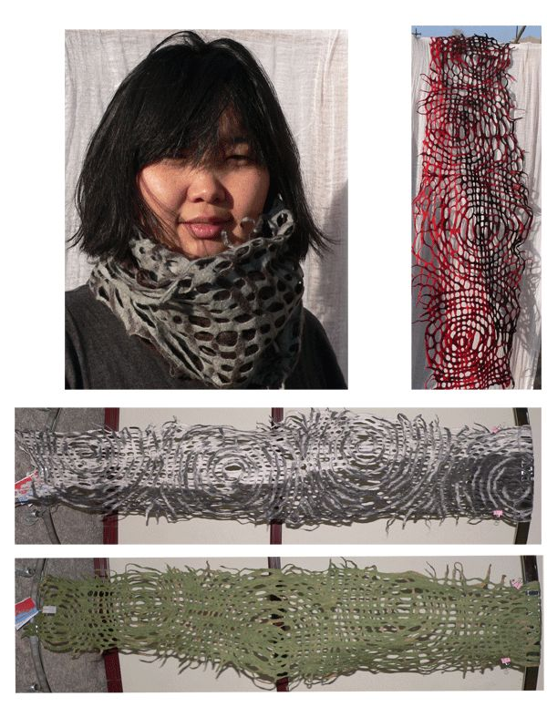 fashionably felt scarves