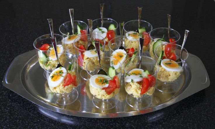 Eiersalade in een glaasje #fingerfood