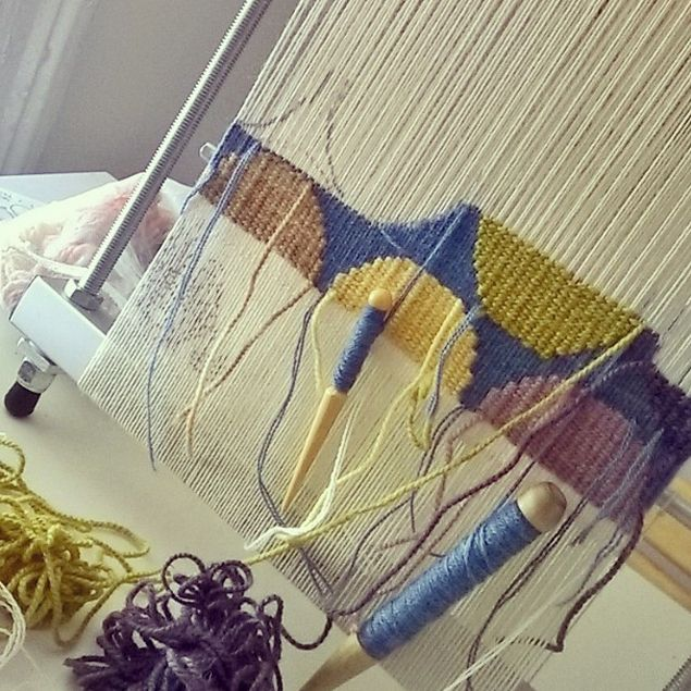 Oh, man! I wish I could take one of these tapestry weaving workshops over at…