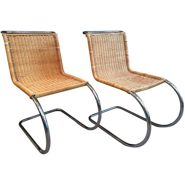 Mies Van Der Rohe Mr10 Wicker Amp Chrome Chairs Chairs