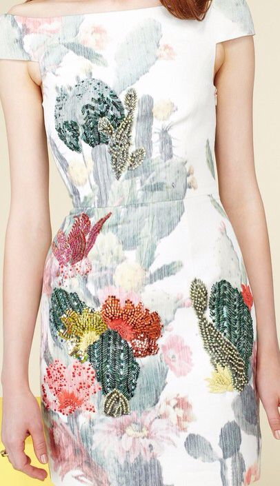 Cactus Dress. Nimue Smit for the Matthew Williamson Resort 2014 Collection