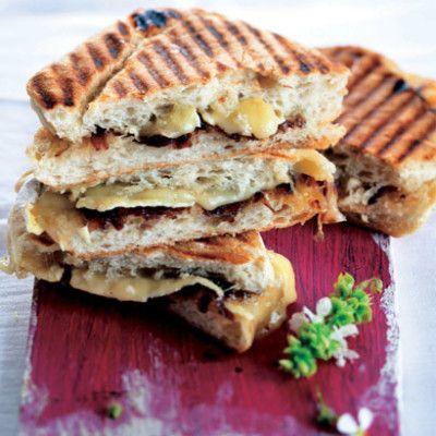 Taste Mag | Brie and caramelised onion braai sarmies @ http://taste.co.za/recipes/brie-and-caramelised-onion-braai-sarmies/
