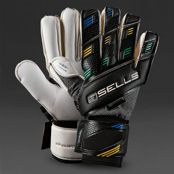 Sells Goalkeeper Gloves - Sells Silhouette Competition - Goalie Gloves - Goalkeeping - White-Black-Rio