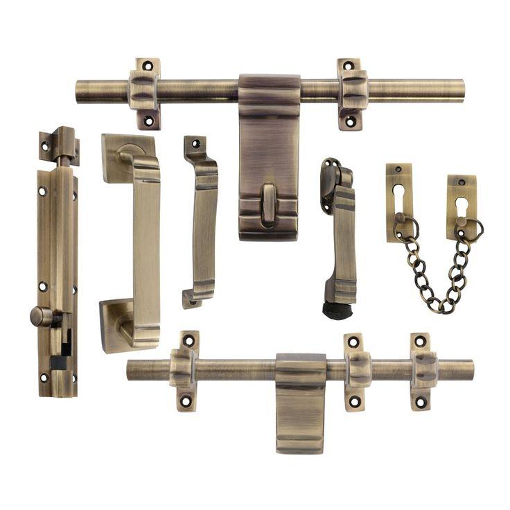 Klaxon Attractive Brass Door Kit (Antique Finish)