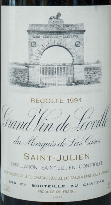 Catawiki Online-Auktionshaus: 1994 Chateau Leoville Las Cases, Saint-Julien 2nd Crand cru Classe - 1 bottle 0.75l