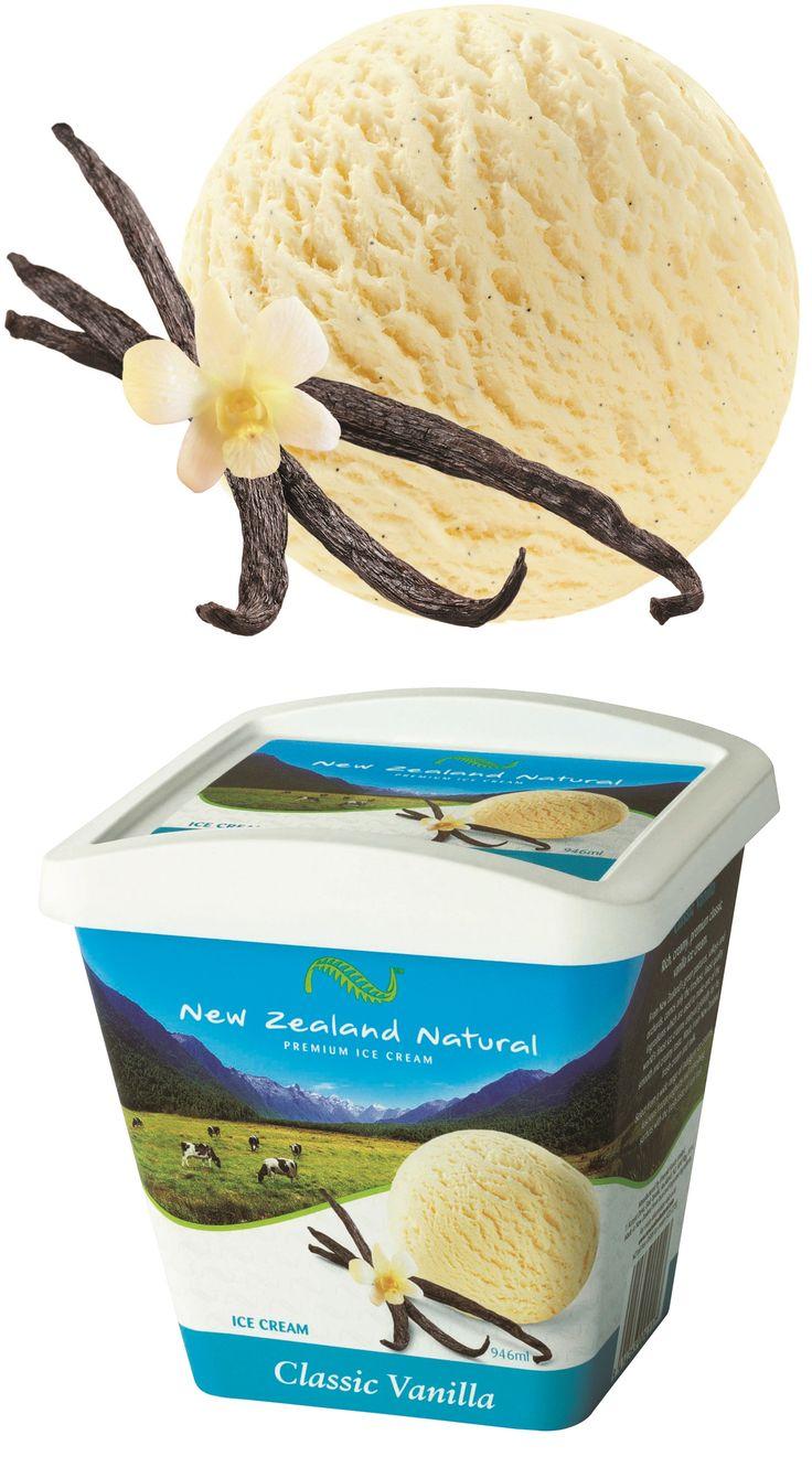 Vanilla Classic - 125ml, 473ml, 946ml & 6L  #icecream #vanilla #newzealand #newzealandicecream
