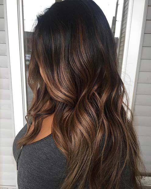 23 Different ways to rock dark brown hair with highlights, #dark brown #highlights #movies #smooth