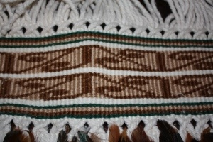 Taniko Detail on full feather korowai