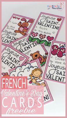 Maternelle avec Mme Andrea: FREE French Valentine's Day Cards for Everyone!