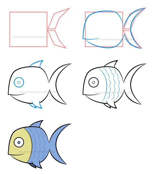 How to draw a fish and play with textures! :) #howtodraw #cartoonanimal #cartoonfish #fish