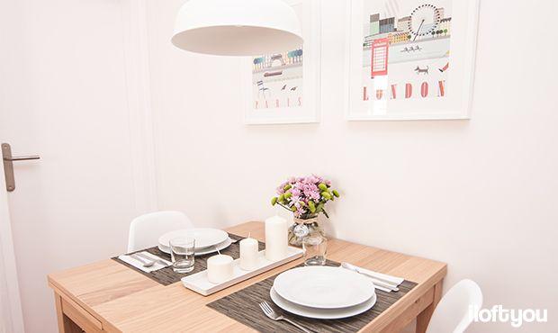 #proyectosantalo #iloftyou #interiordesign #ikea #barcelona #lowcost #diningroom #eameschair #bjursta