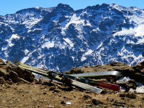 Skiing in Morocco on The African Ski Experience. #ski #morocco #atlasmountains #marrakesh www.untravelledpaths.com