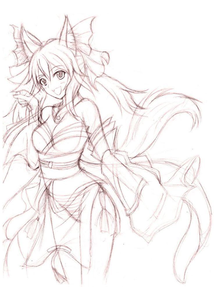 Image result for anime goddess lineart