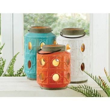 CERAMIC LANTERN CUTOUT Morgan & Finch