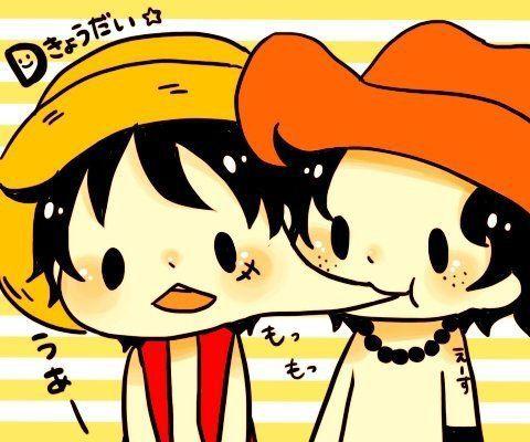 Kawaii *^*   Ace x Luffy - Acelu