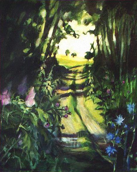 """""""Droga przez zagajnik"""", malarstwo akryl"""