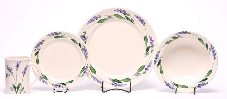 Lavender Dinner Set for One with Classic Plates