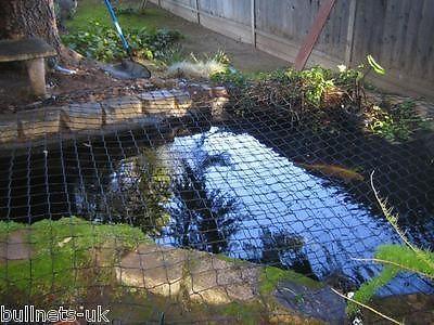 SM 4m x 2.5m Child safety garden pond netting pool cover BLACK SUPER NETS grids