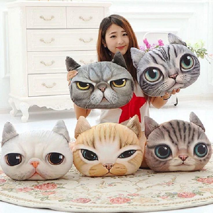40cm*38cm New Pillow cushion Personality Car Cushion Creative Cat shape Nap pillow Cute seat cushion,SKU 1408S2C01