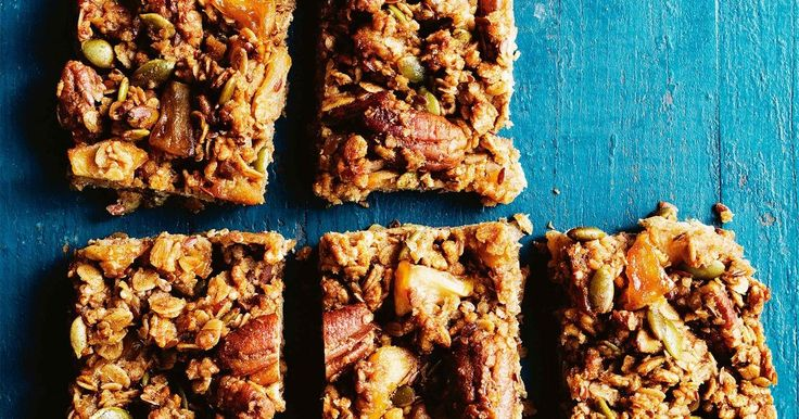 Combine gorgeous caramelised apple with healthy oats, quinoa flakes and pepitas to create these healthy bars.
