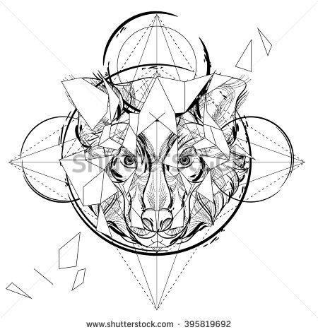 Modern Tattoo Design Coloring Book Sketch Coloring Page