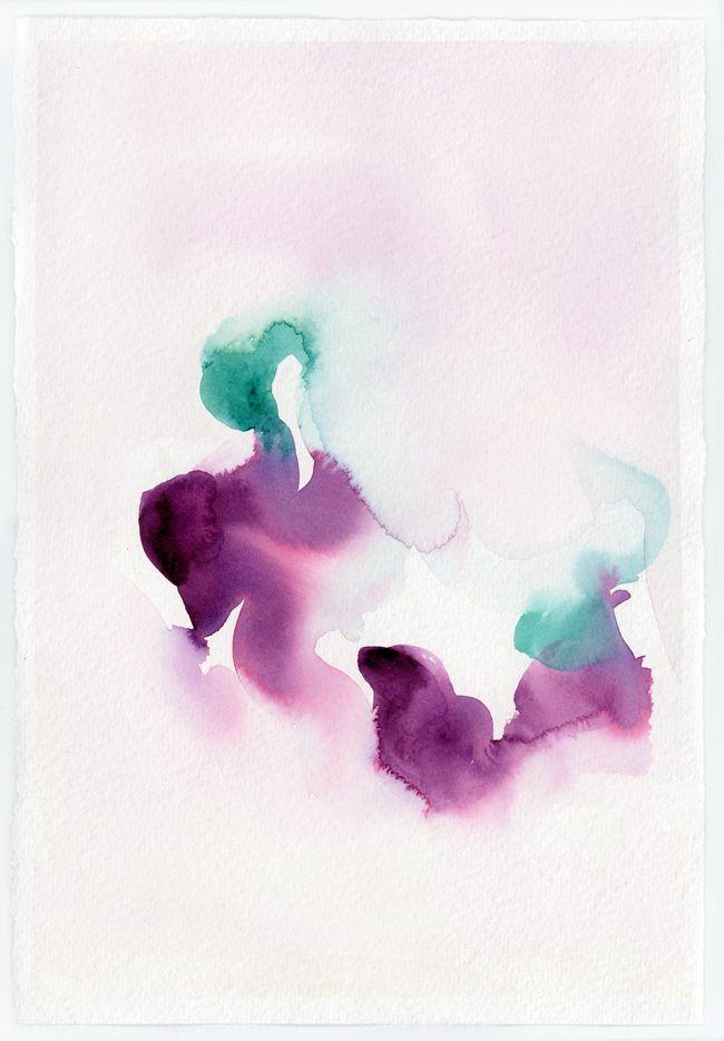 Marta Spendowska.  Abstract Watercolor Study : Beginnings.