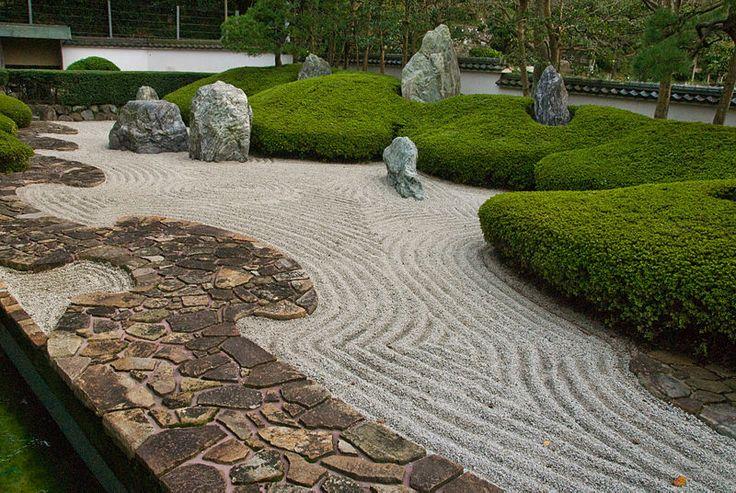 The Gampo Abbey rock garden.