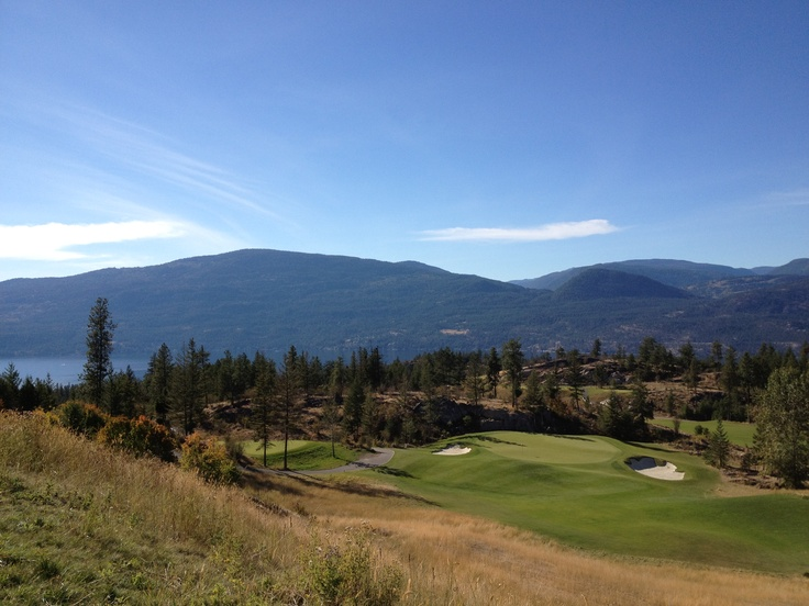 The Ridge hole 5 at Predator Ridge Golf Resort in Vernon, BC, Canada...this course is so breathtaking.