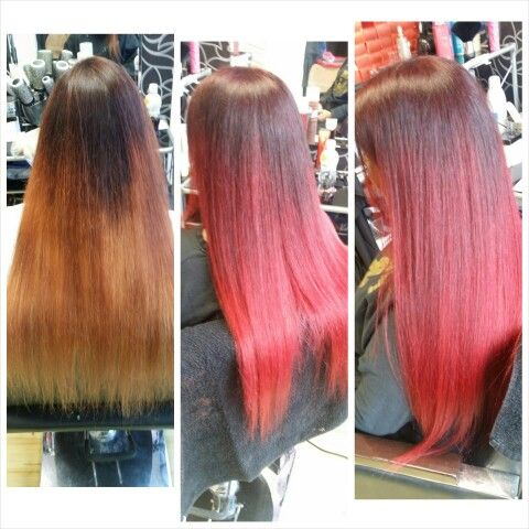 I love RE-colouring hair!;-) especially to do arielle ombre