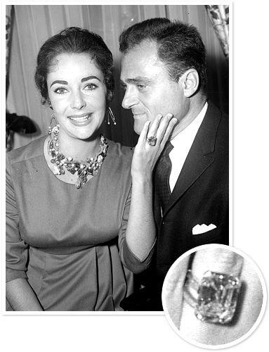 photo gallery celebrity ringscelebrity engagement - Elizabeth Taylor Wedding Ring