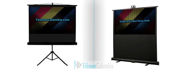 Diferencias entre pantalla con base tripode y una portable de piso para video proyectores