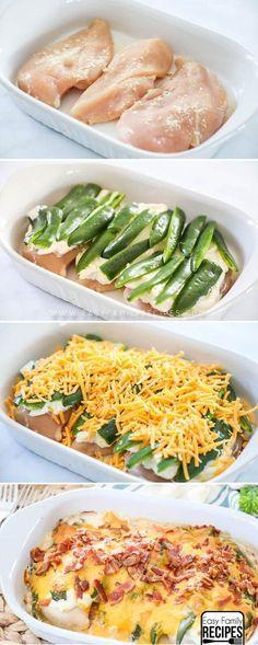 The Husbands Favorite Dinner! The BEST Jalapeno Popper Chicken Casserole! #recipe #chicken #keto #lowcarb